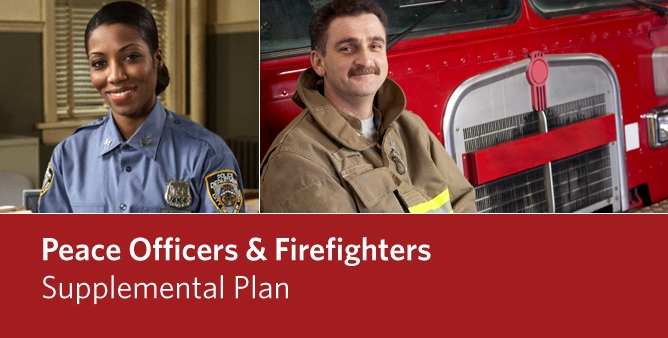 Image of a female Peace Officer and a male Firefighter - Peace Officers and Firefighters Supplemental Plan
